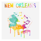 New Orleans Piano Art by Sheldon Lewis