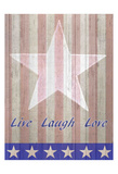 Live Laugh Love Flag Print by Kimberly Allen