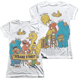 Juniors: Sesame Street- Block Party (Front- Back) Shirts