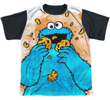 Youth: Sesame Street- That's How Cookie Crumble Black Back T-shirts