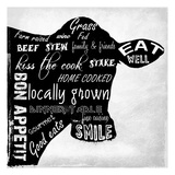 Cuisine Typography Prints by Sheldon Lewis