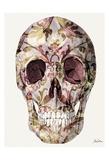 Skull And Rose Petals Posters by Tina Carlson