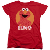 Womans: Sesame Street- Smiley Elmo T-Shirt