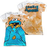 Juniors: Sesame Street- That's How Cookie Crumble (Front- Back) T-shirts