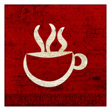 Red Coffee 1 Posters by Kimberly Allen