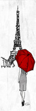 Eiffel Umbrella Prints by  OnRei