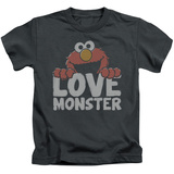 Juvenile: Sesame Street- Elmo Love Monster T-shirts