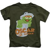 Juvenile: Sesame Street- Smiling Oscar T-shirts