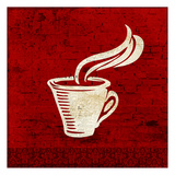 Red Coffee 3 Posters by Kimberly Allen