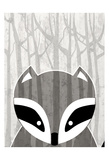 Woodland Racoon Prints by Kimberly Allen