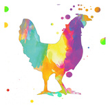 Bubbly Rooster Prints by Sheldon Lewis