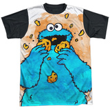 Sesame Street- That's How Cookie Crumble Black Back T-Shirt