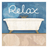 Relaxing Bath Poster by Lauren Gibbons