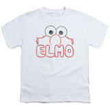 Youth: Sesame Street- Elmo Stencil Letters Shirts