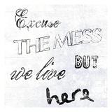 Excuse The Mess Plakater av Sheldon Lewis