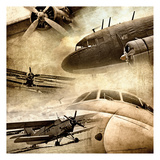 Vintage Plane Montage 82530 Art by May May