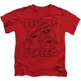 Juvenile: Sesame Street- Group Crunch T-shirts