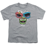 Youth: Sesame Street- Three Lively Monsters T-shirts