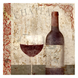 Vintage Wine 1 Art by Kimberly Allen