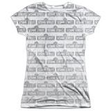 Juniors: Sesame Street- Tiled Logo Shirt