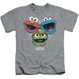 Juvenile: Sesame Street- Three Lively Monsters T-Shirt