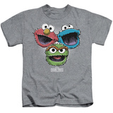 Youth: Sesame Street- Three Lively Monsters T-Shirt