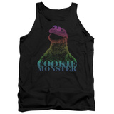 Tank Top: Sesame Street- Subdued Cookie Monster Tank Top