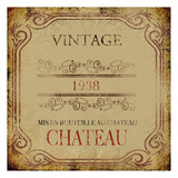 Vintage Chateau Posters by Victoria Brown