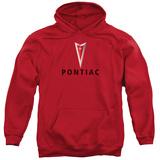 Hoodie: Pontiac- Centered Arrowhead Pullover Hoodie