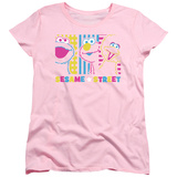 Womans: Sesame Street- Patterns & Shapes Friends Shirts