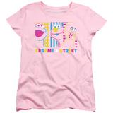 Womans: Sesame Street- Patterns & Shapes Friends Shirts