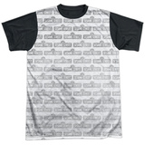 Sesame Street- Tiled Logo Black Back T-shirts
