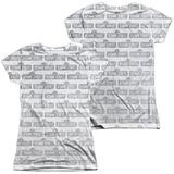 Juniors: Sesame Street- Tiled Logo (Front- Back) T-Shirt