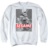 Crewneck Sweatshirt: Sesame Street- On The Street Shirt