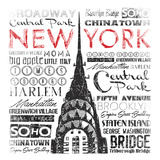 New York Words Art by Jace Grey