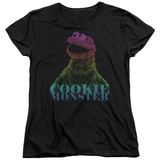 Womans: Sesame Street- Subdued Cookie Monster T-shirts