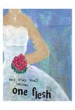 Weddings One Flesh Print by Cherie Burbach