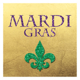 Mardi Gras Gold Prints by Victoria Brown