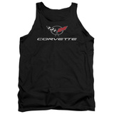 Tank Top: Chevy- Modern Corvette Logo Tank Top