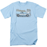 Chevy- Distressed Silverado & Dash Emblem T-shirts