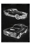 Car Black Print Posters by  OnRei