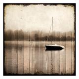 Misty Morning Boat Prints by Kimberly Allen