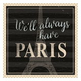 Always Paris Dots Poster by  Ophelia & Co.