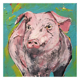 Pig Prints by Beverly Dyer