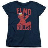 Womans: Sesame Street- Elmo Rules T-Shirt