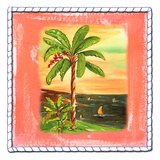 Beach-Front Banana Tree Print by Anne Ormsby