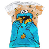 Juniors: Sesame Street- That's How Cookie Crumble Womens Sublimated