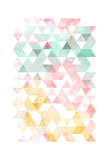 Pastel Triangles Mate Prints by  OnRei