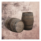 Wine Barrels 2 Art by Victoria Brown