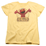 Womans: Sesame Street- Elmo Hug Ready T-Shirt